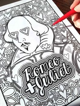 Romeo Juliet Shakespeare Coloring Pages English School And Free Romeo And Juliet Coloring Pages