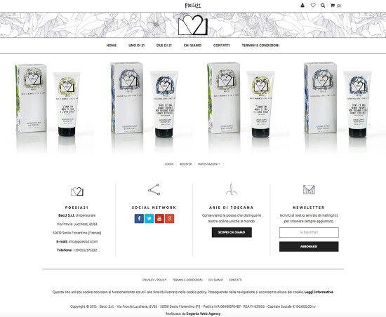Nuovo e-commerce Poesia 21. Linea di prodotti made in Tuscany al 100 ...