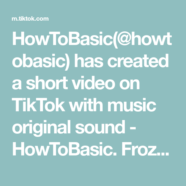 Howtobasic Howtobasic Has Created A Short Video On Tiktok With Music Original Sound Howtobasic Frozen Coke In A Video The Originals Morning Coffee Images