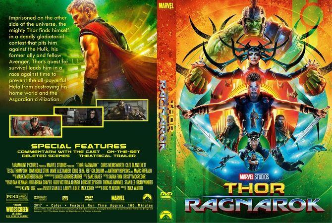 Thor Ragnarok 2017 Dvd Custom Cover Movie Covers Dvd Cover Design Custom Dvd
