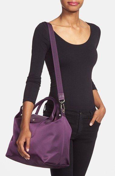 f59606f416 Longchamp 'Le Pliage - Medium Neo' Nylon Tote at Nordstrom. Loved the size,  style and material. Just wish the shoulder strap was adjustable - so that  you ...