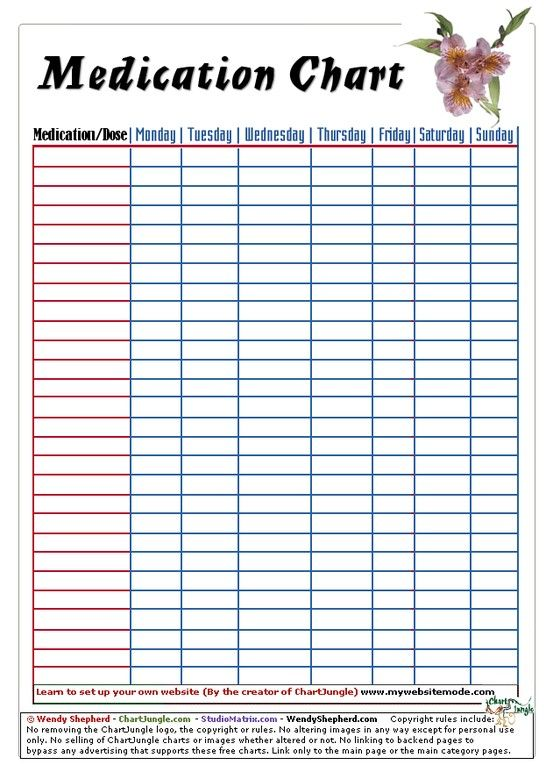 Free Printable Medication Chart From Chartjungle Com Music Practice Chart Piano Practice Chart Music Practice