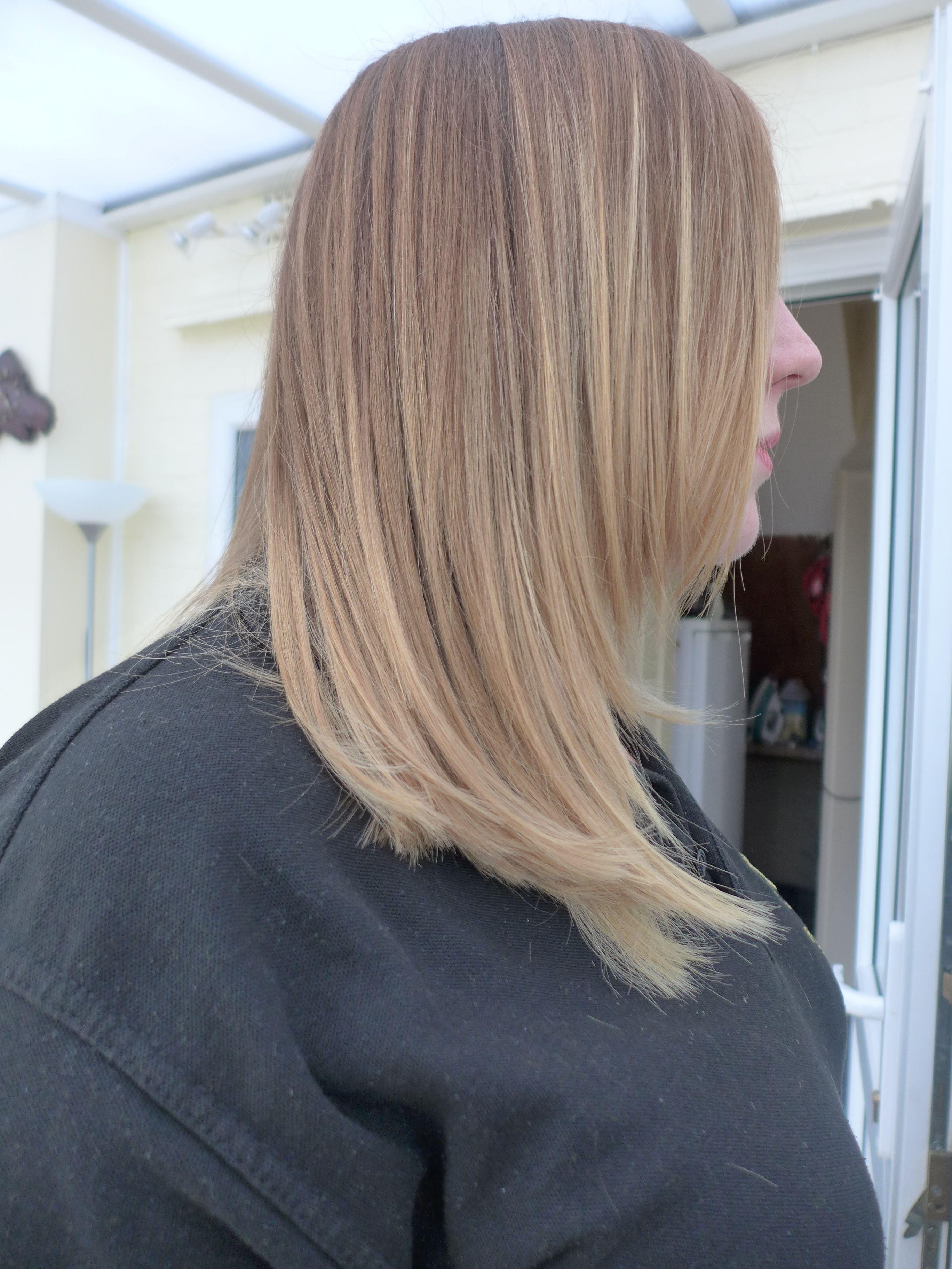 Medium length ombre hair styles straight hair hair styles