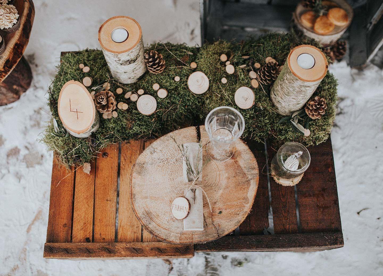 Wooden wedding u winterhochzeitsidee im wald weddings
