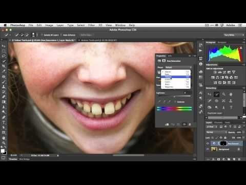 How To Fix Teeth In Adobe Photoshop Cs6 Graphic Design Photoshop