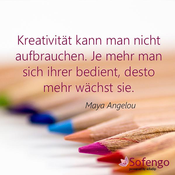 Kreativitat Kann Man Nicht Aufbrauchen Je Mehr Man Sich Ihrer Bedient Desto Mehr Wachst Sie Maya Angelou Maya Angelou Danke Gott Gedanken Fur Den Tag