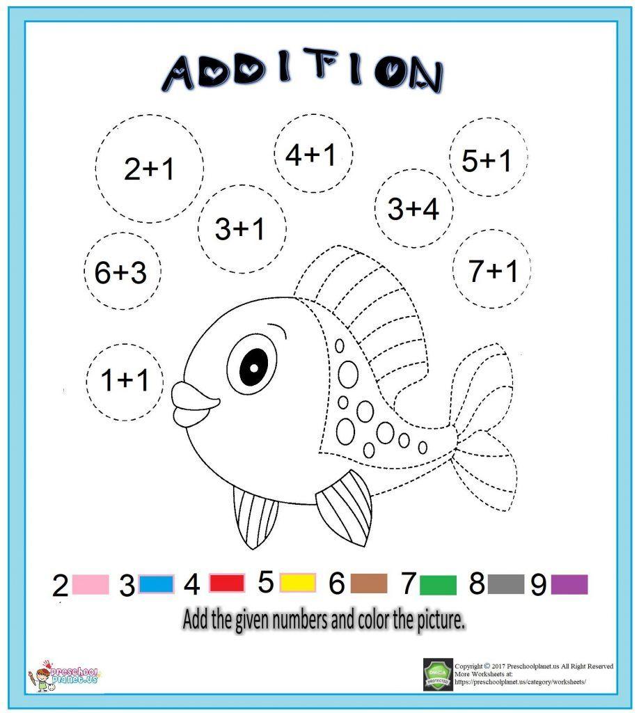 Addition Worksheet For Kids Kids Math Worksheets Worksheets For Kids Addition Worksheets