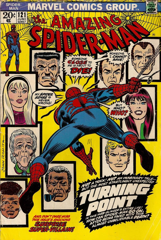 A John Romita Sr.Classic Comic Book Cover: Amazing Spider-Man # 121 ...