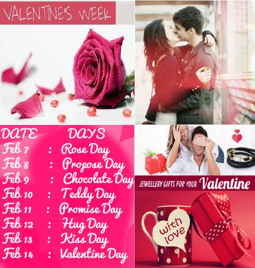 2016 Valentine Week List – Dates Schedule Sheet | Creative