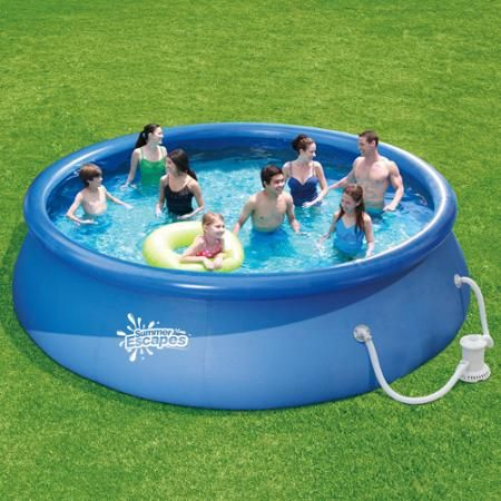 Summer Waves 15ft Quick Set Ring Pool With 600 Gph Filter Pump Walmart Com Easy Set Pools Inflatable Swimming Pool Swimming Pool Filters