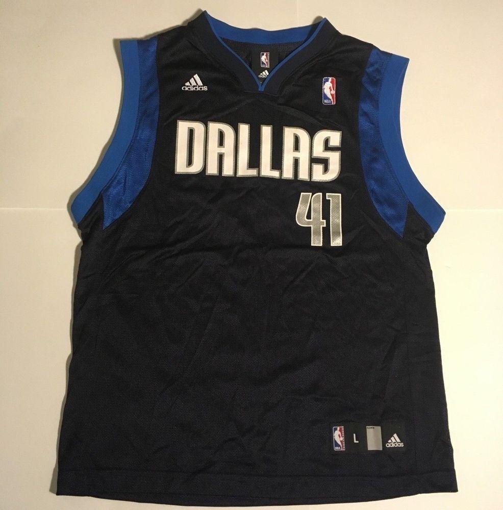 detailing 9ea4b c4e52 BOY'S DIRK NOWITZKI DALLAS MAVERICKS ADIDAS NBA BASKETBALL ...