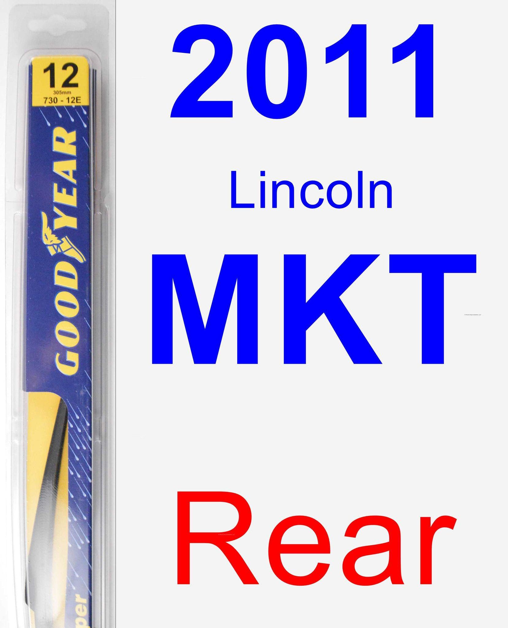 Rear Wiper Blade For 2011 Lincoln MKT - Rear