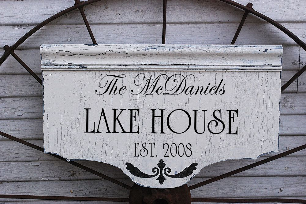custom lake house signs cottage cabin beach house by familyattic