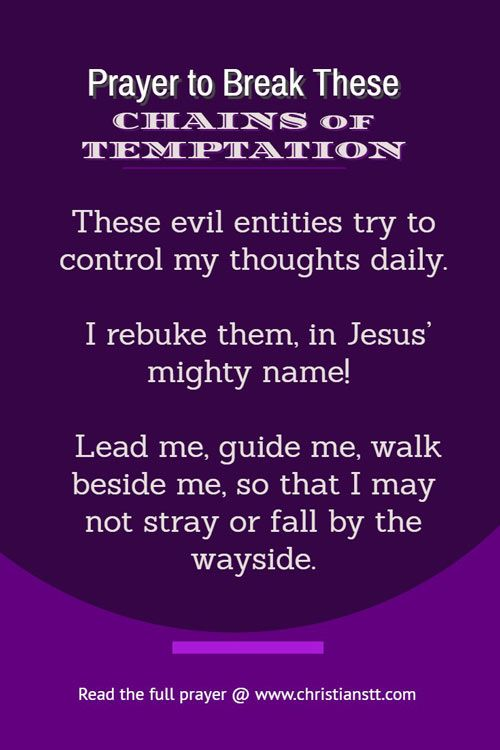 Prayer to break these chains of temptation | Spiritual Warfare