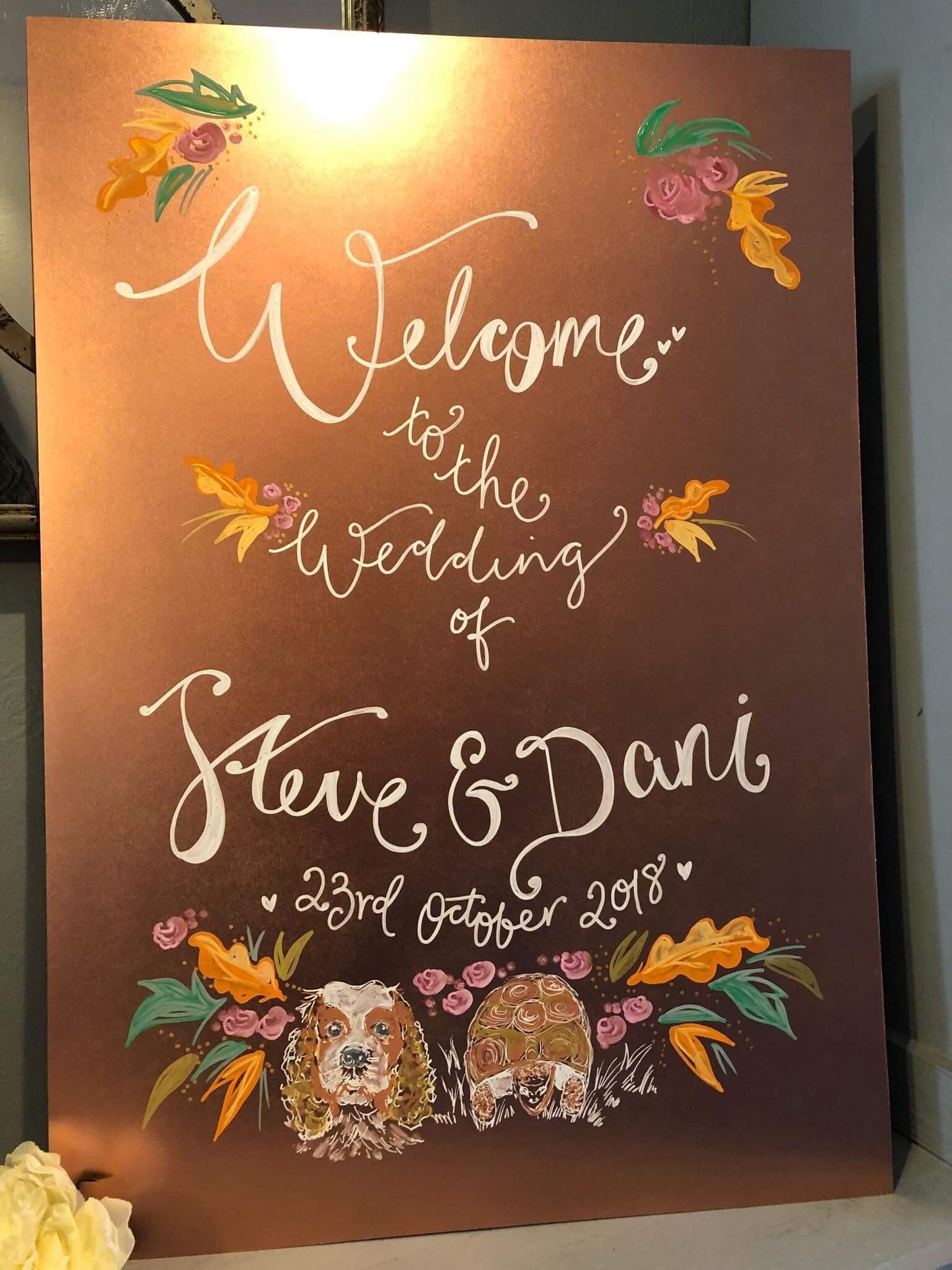 Wedding decorations reception october 2018 Our wedding signage has been made and Im SO in love it even has