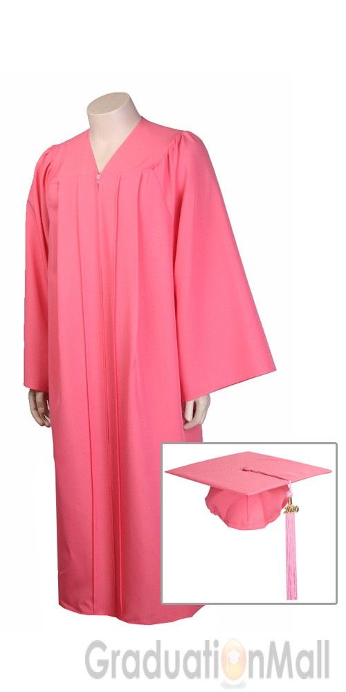Premium Graduation Cap Gown Package--Pink-$24.95 | High School Cap ...