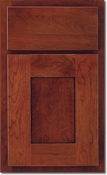Best Wyatt Door Style With Slab Drawer Front Cherry Wood Red 400 x 300