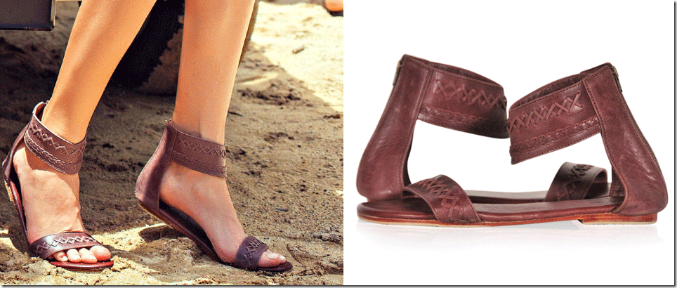 boho ankle strap flat leather sandals from Bali ELF