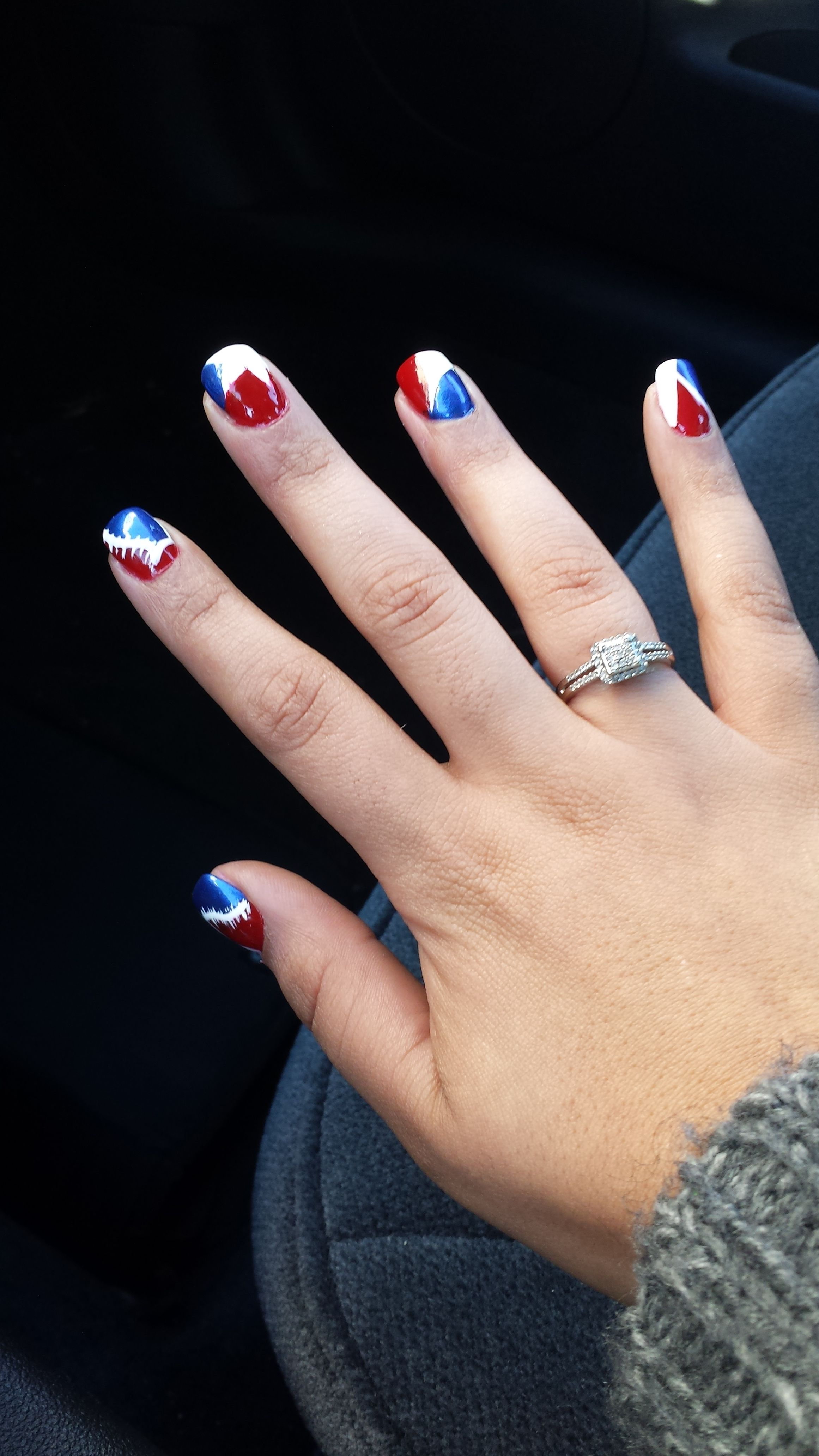 New England Patriots Nails *In the final 4. Up against the Denver ...