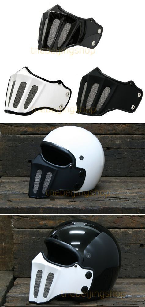 fa9ad622a56 Gladiator Face Shield Mask For 3 4 Open Motorcycle Helmet