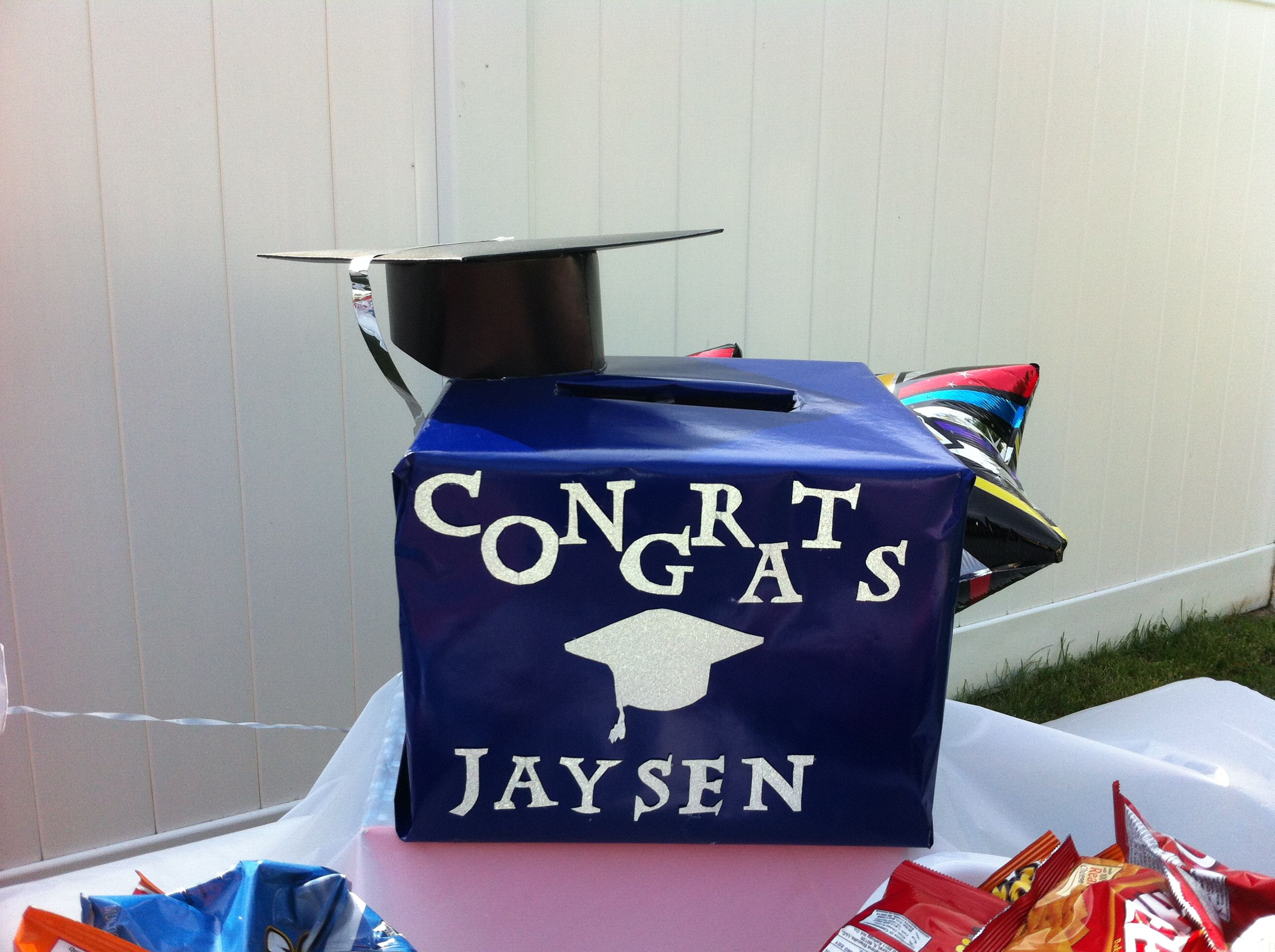 Pin By T S On Diy Graduation Card Boxes Trunk Party Ideas College Party Ideas College