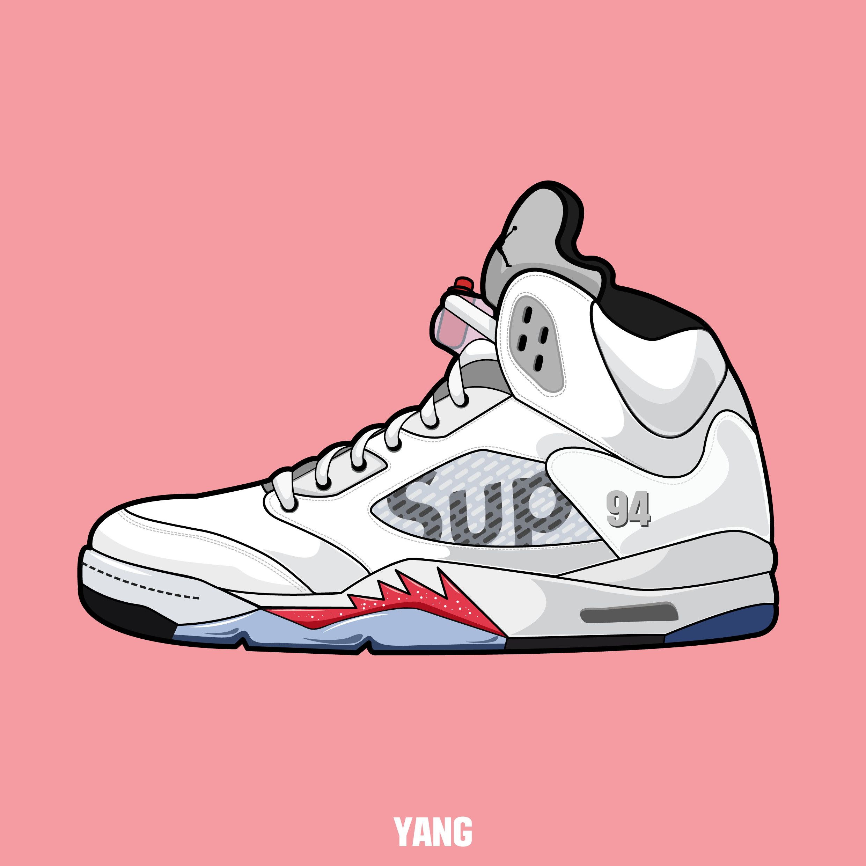 Nike Shoe Box Label Template Luxury Drawing Shoes Sneakers Nike Air Jordan Carmine Graphic Design In 2020 Sneakers Illustration Sneakers Drawing Sneaker Art