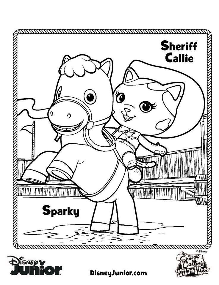 Sheriff Callie S Wild West Coloring Pages Free To Print Would