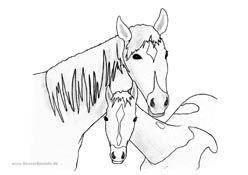 Ausmalbild Pferd Mit Fohlen 2 Horses Ausmalbilder