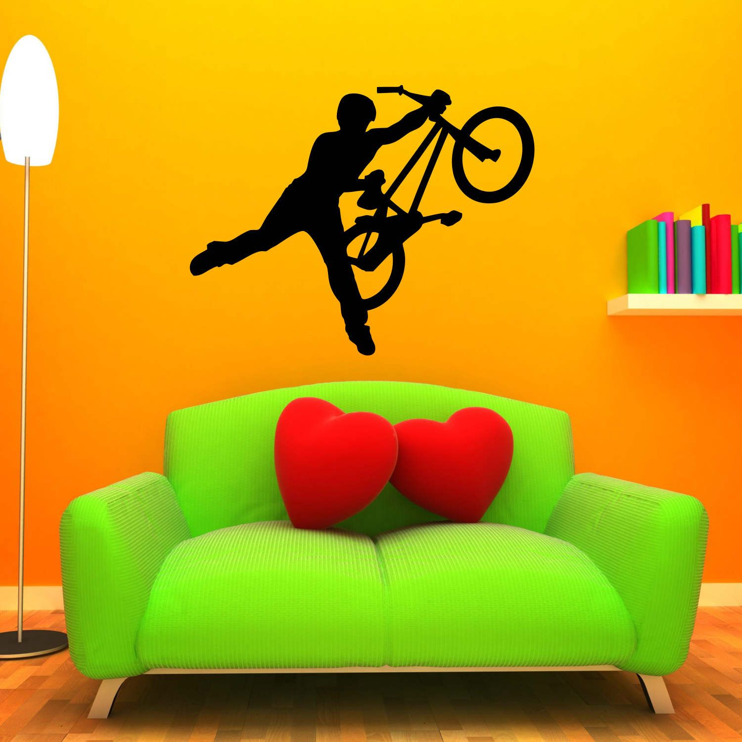 BMX Decal LARGE Wall Mural Bike Sticker | Pinterest | BMX and Wall ...
