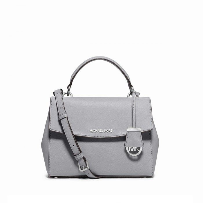 835004ad6551 MICHAEL Michael Kors Ava Extra-Small Saffiano Leather Crossbody Bag Grey