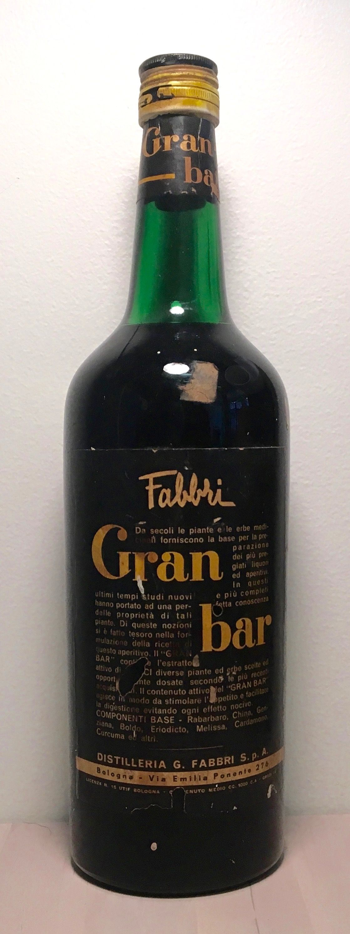 Fabbri's Amaro Gran Bar of Bologna (Emilia-Romanga) 1950's ...