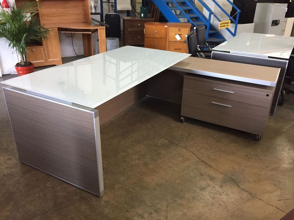 Executive office table with glass top  glass top executive desk  rustic home office furniture check