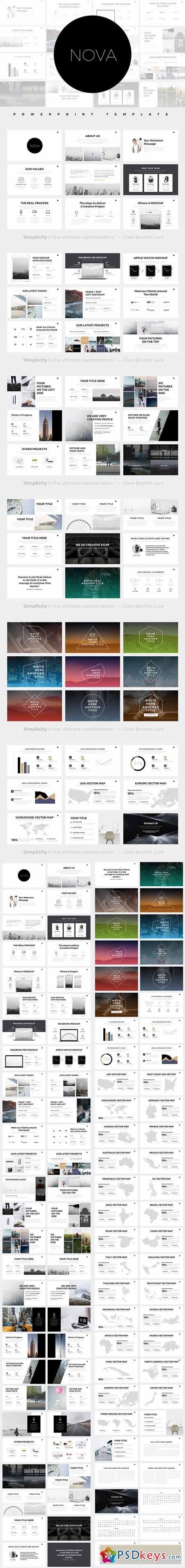 nova minimal powerpoint template 590639 design pinterest