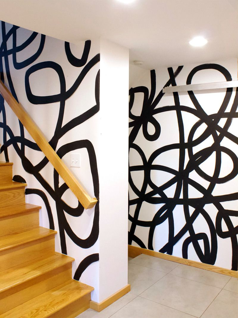 10 Wall Painting Design Ideas For The Free Spirit In 2020 Wall | Stairs Wall Paint Design | Designer | Fancy | Beautiful | Staircase Railing Wood | Wall Colour
