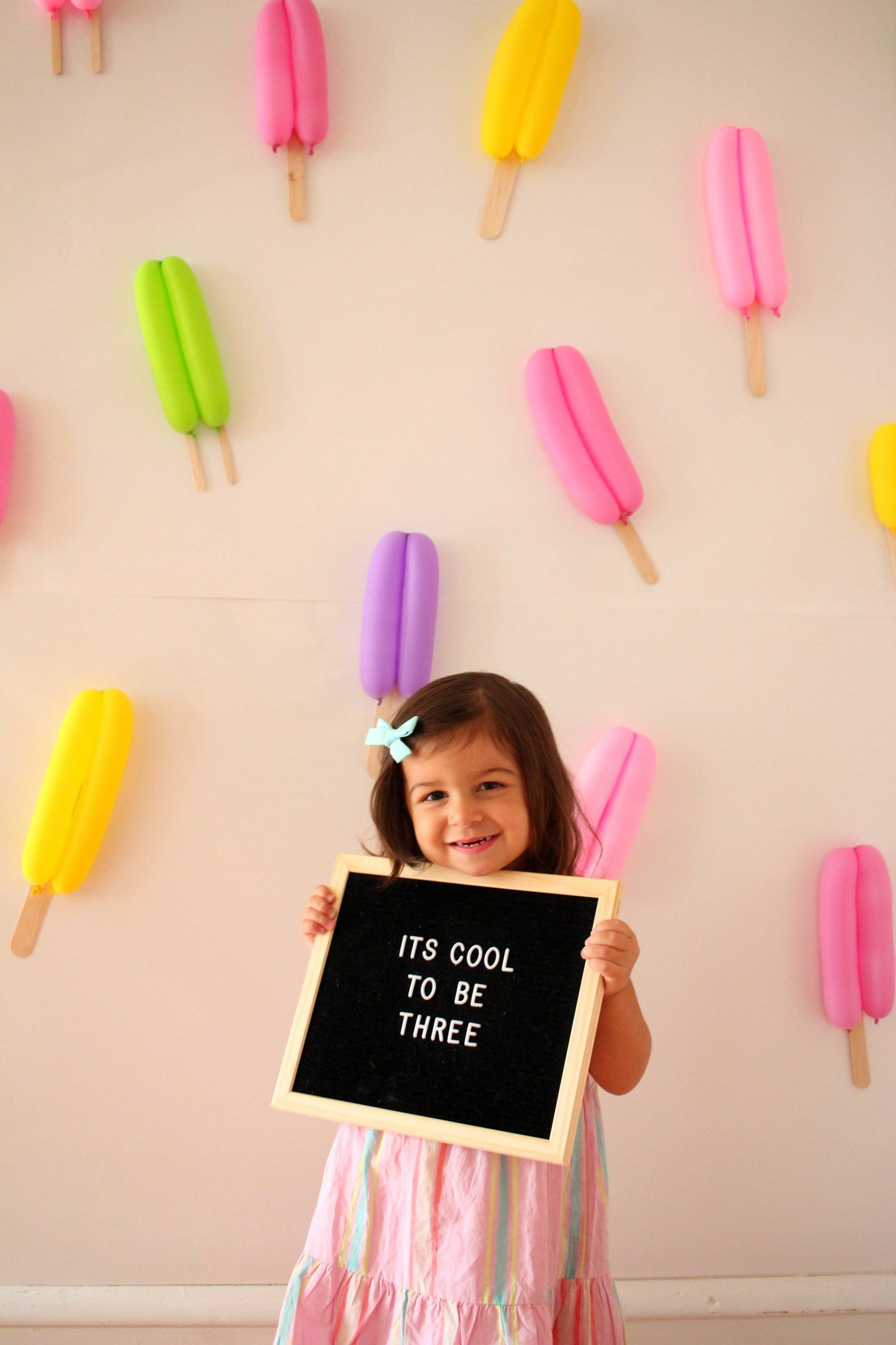 Popsicle Party for Carmendy's 3rd Birthday! - Ice Cream Off Paper Plates