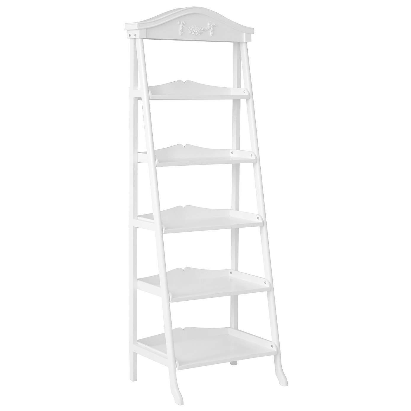 Toulouse white ladder bookcase living rooms bedrooms and room