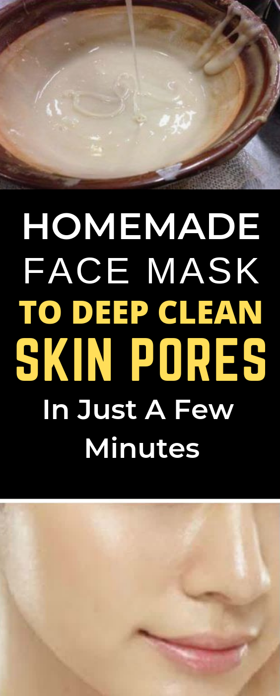 DIY face mask to deep clean skin pores #homemadefacelotion
