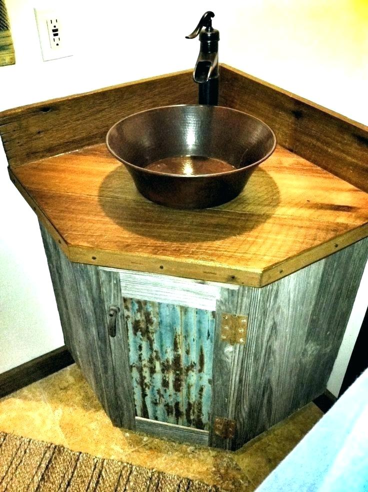 Rustic Vessel Sinks Rustic Sink Bowl Rustic Sink Barn Wood Bathroom Vanity But With Galvanized Barn Wood Bathroom Wood Bathroom Vanity Rustic Bathroom Vanities