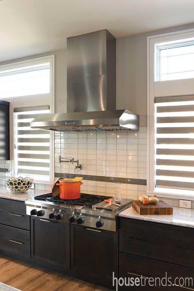 Subway Tile Creates A Sleek Backsplash In This Select Kitchen Design Idea