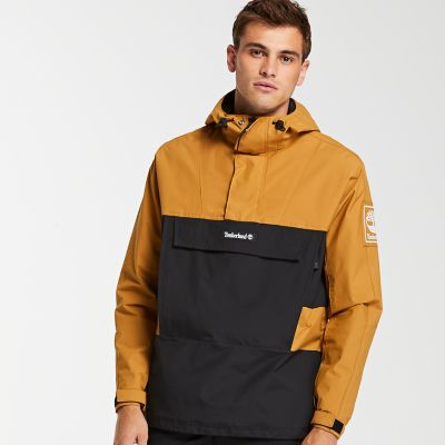 Timberland Men s Waterproof Colorblock Pullover Jacket Wheat Black 67e3a04dfc