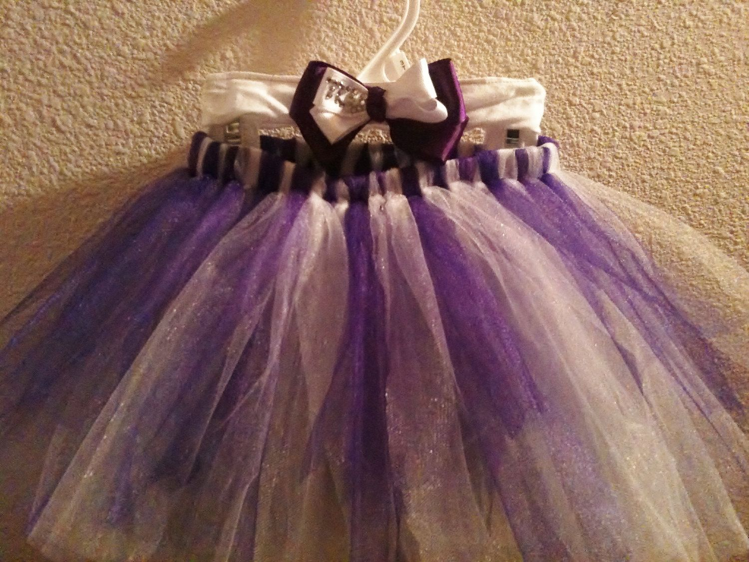 with a nice onesie?  TCU Tutu and Matching Bow. $15.00, via Etsy.