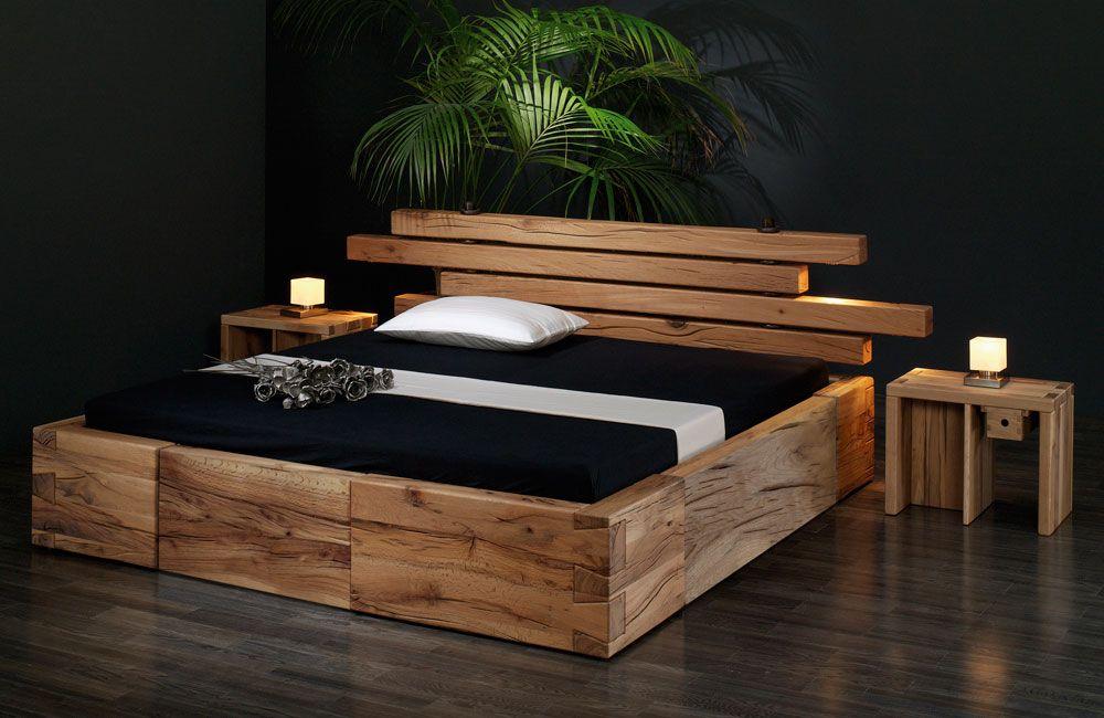 Holzbett massiv rustikal  Bett Brunhilde | Bett | Pinterest | Kopfteile, Bett und Betten