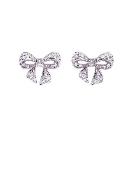 Ted Baker Pave Small Bow Earring
