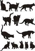 Vetor de gatos — Ilustração de Stock #4668443