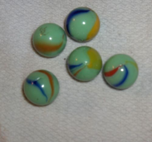 10 ea. of red, blue, green, black, white /& yellow 60 1 Game Marbles