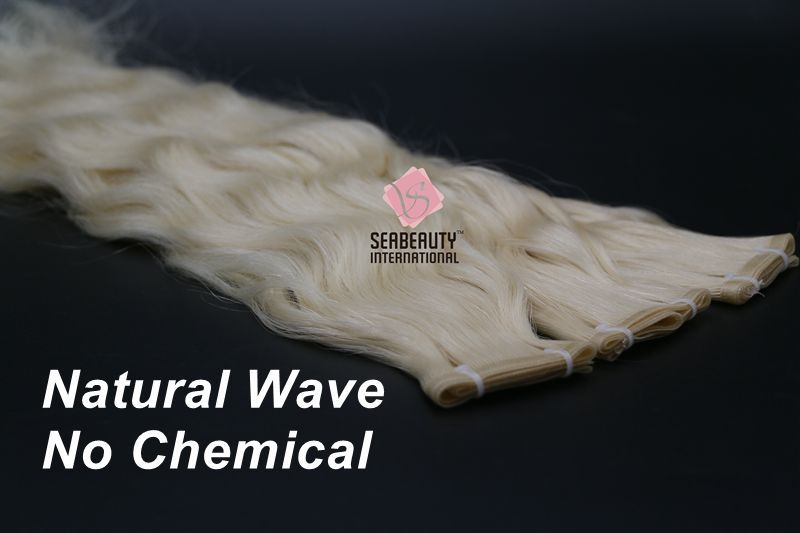 Flat weft Indian temple natural wave virgin cuticle hair extensions
