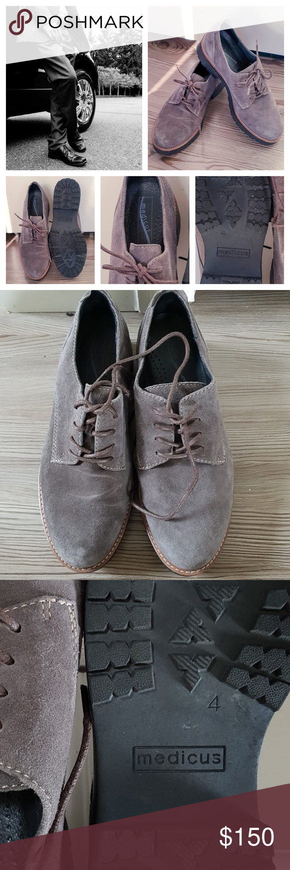 Medicus Oxford Suede Leather Shoes