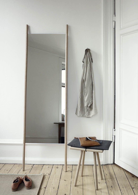 Georg Oak Floor Mirror | Floor mirror, Solid oak and Hardware