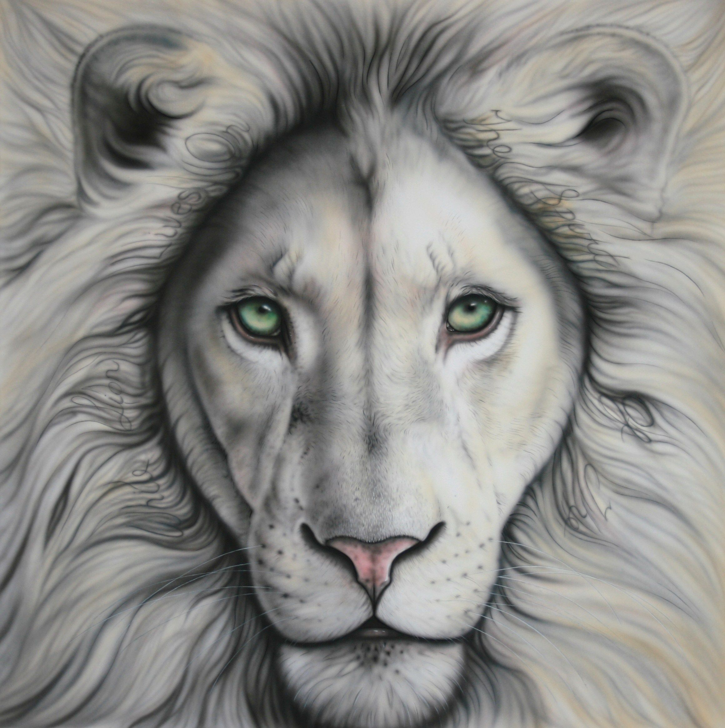 Give A New Look To Your Mobile With This Amazing White Lion Cover