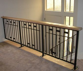 Railing/banister idea for living room and entry   For the ...